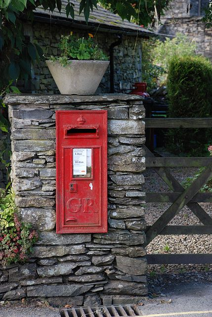 """""""Peter Rabbit's Post Box""""   You can find it in The Tale of Peter Rabbit.      Photo by  ~yvestown~(Yvonne Eijkenduijn) September 26 2010 in Near Sawrey, England, Great Britain. """