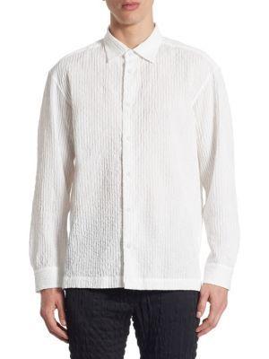 ISSEY MIYAKE Shrink Striped Shirt. #isseymiyake #cloth #shirt