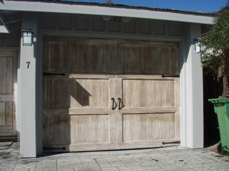 Sectional wood garage door with decorative hardware & 15 best Monterey Bay \u0026 Santa Cruz Custom Wood Doors images on ...