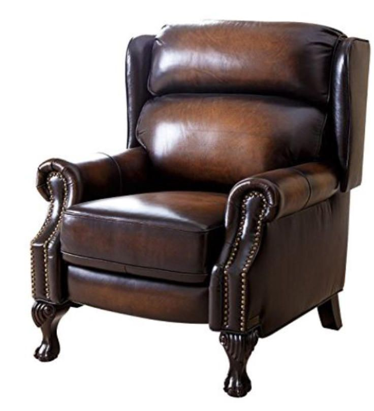 Big Leather Arm Chairs Wide 500 LB Heavy Duty FREE Shipping