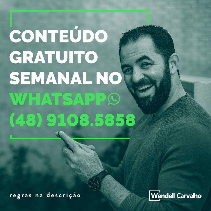 Receba diretamente do Wendell Carvalho mensagens instrutivas para aplicar em sua atividade de vendas diretas e marketing de rede.