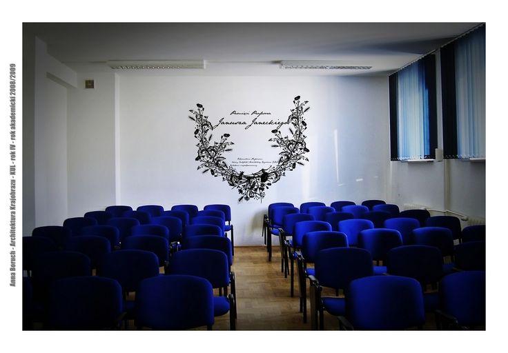 mural ku pamięci prof. Janeckiego IAK KUL (projekt)