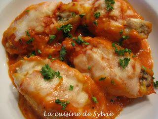 La cuisine de Sylvie: Coquilles géantes farcies à la viande et aux champignons
