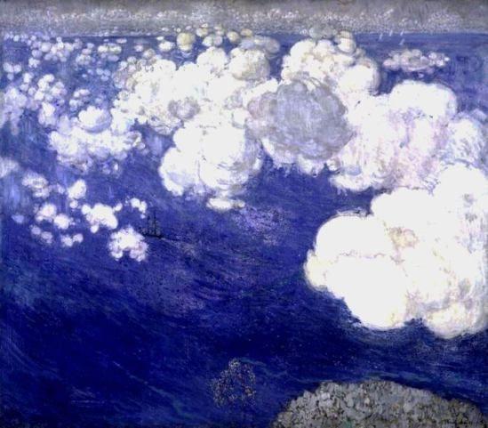 Boris Israëlevich Anisfeld. Clouds over the Black Sea, Crimea 1906