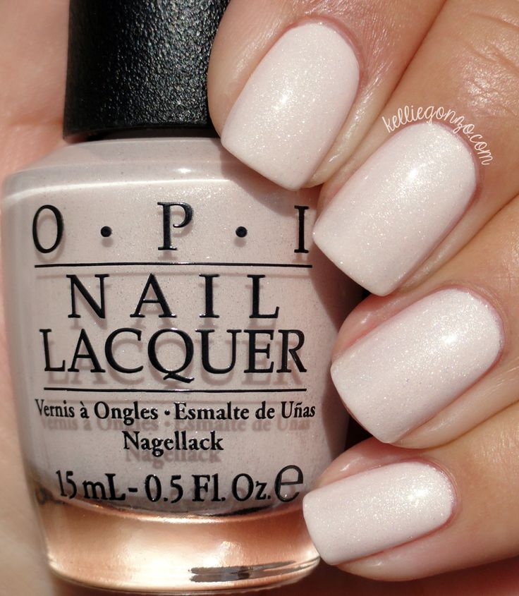 OPI Breakfast At Tiffany's - pinky pale pearl with iridescent shimmer #nail polish / lacquer / vernis @kelliegonzoblog