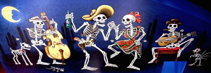 17 best images about day of the dead party on pinterest for Day of the dead mural