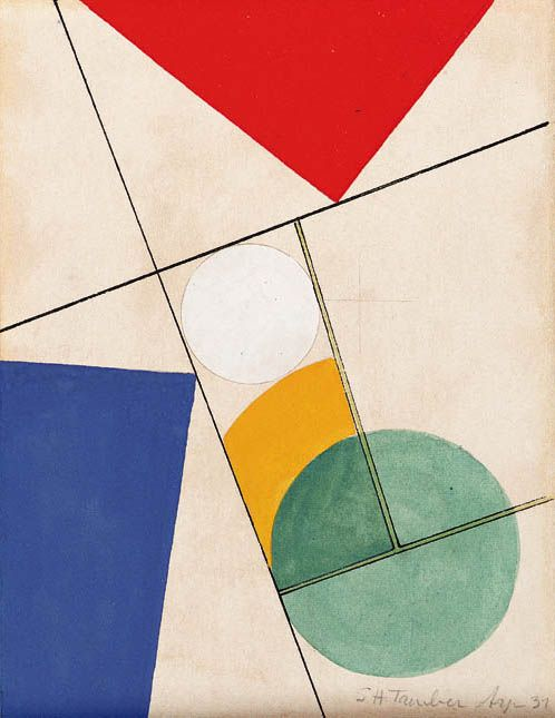 "arsvitaest: "" Sophie Taeuber-Arp, Composition, 1937 Gouache and watercolor on paper """