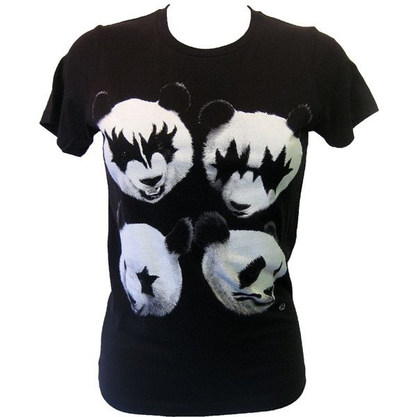 Goodie Two Sleeves Panda Rock T-Shirt | Gothic Clothing | Emo clothing... ($27) ❤ liked on Polyvore