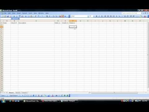 How to create an excel checkbook register video. Helpful for now and in the future!