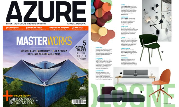 Thanks to @azuremagazine Magazine for showing our Camel chair by Bartoli Design on the March/April issue. More details about Camel chair on: http://bit.ly/Segis-Camel