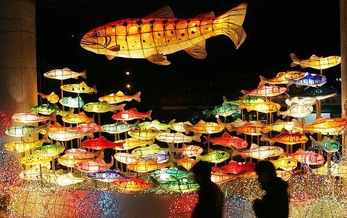 The Western Confucian: Cherry Salmon Festival Lanterns