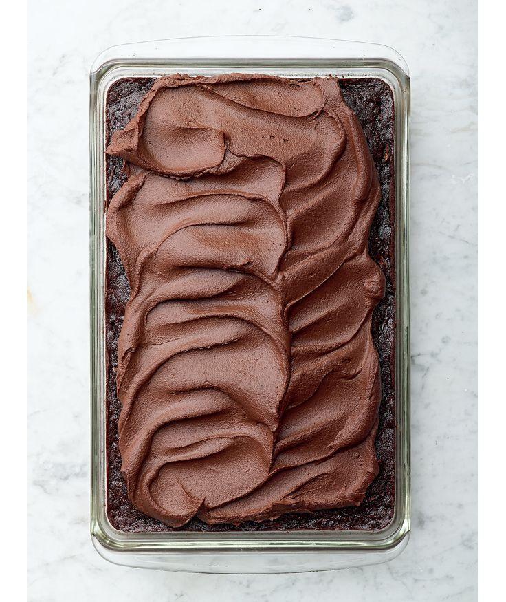 Chocolate Zucchini Cake with Sweet Potato Frosting