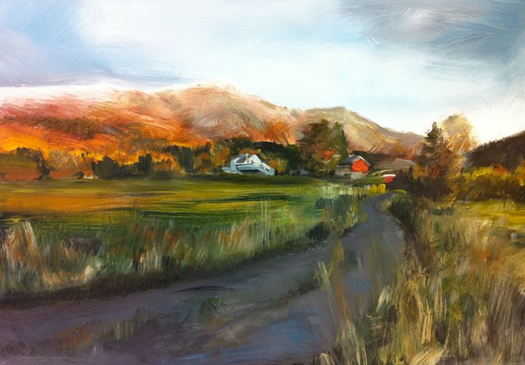 Stokke Farm, Norway / Acrylic painting on canvas