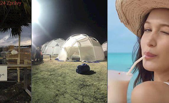 """Místo modelek krysí bobky. Zlatá mládež letěla na """"luxusní"""" festival na Bahamy"""
