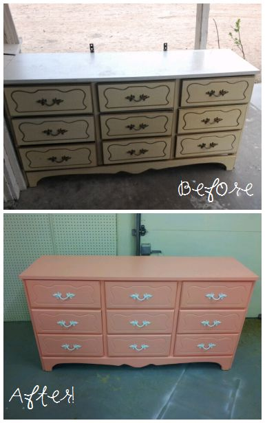 painted dressers for sale yard sale dresser painted coral for the nursery all