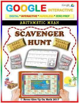 Scavenger Hunt: Arithmetic Mean (Google Interactive & Hard Copy)