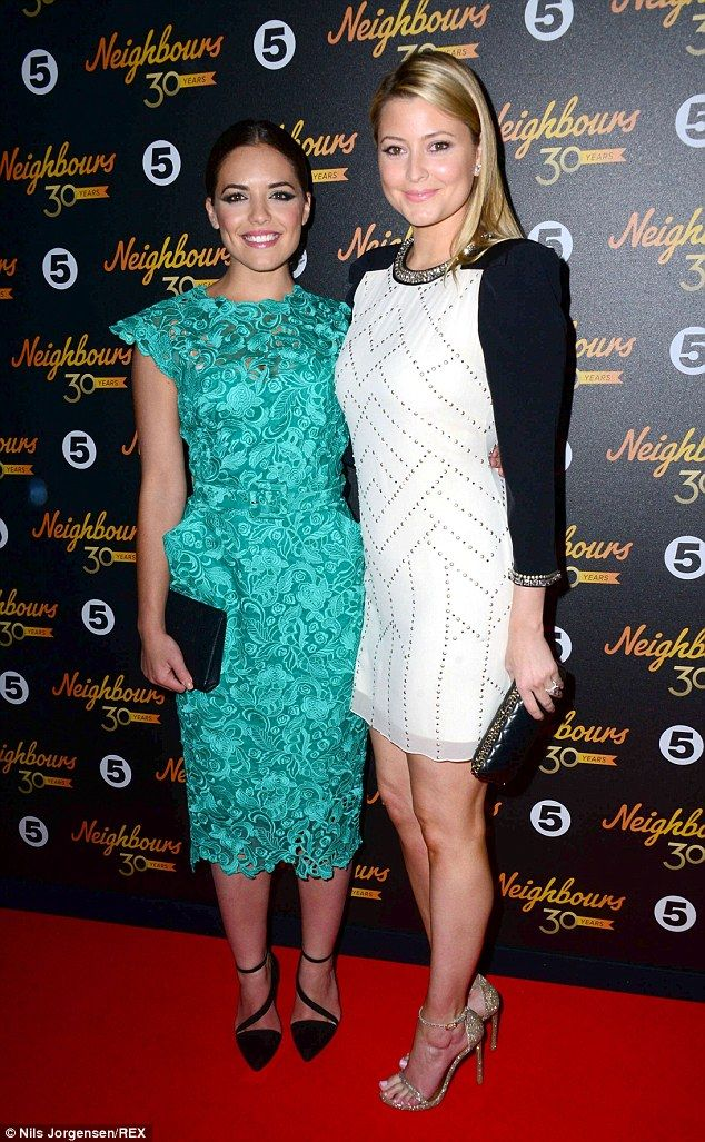 Sister act: Holly Candy (nee Valance, left) brought stunning sister Olympia Valance (right...