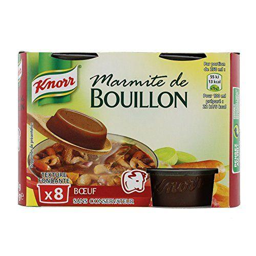 Knorr Marmite de Bouillon Bœuf 8 Capsules 224 g – Lot de 4: Sans colorant artificiel, sans exhausteur de goût, sans conservateur. Un…