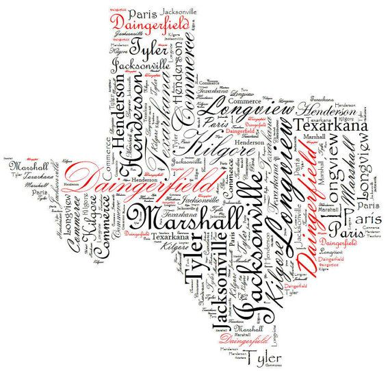Typography Word Wrap Print Your Home State  8.5 by ToadstoolPond, $14.00