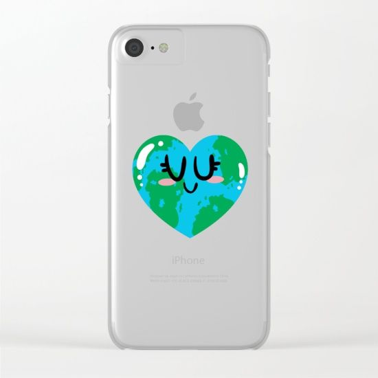 I Love Earth Clear iPhone Case
