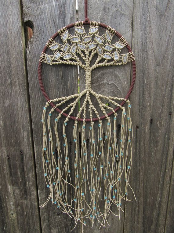 ~ Hippie Tapestry, Large Macrame Wall Hanging, Tree of Life Tapestry, Large Dreamcatcher, Boho Tapestries, Tree of Life Decor ~  This beautiful