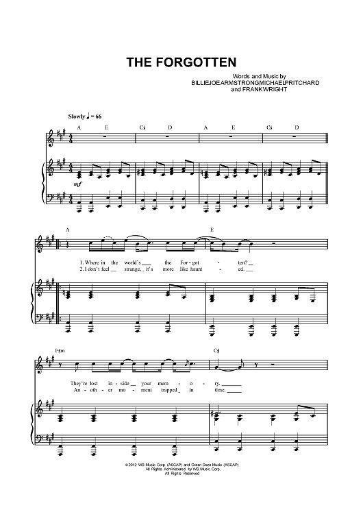 Online Sheet Music: The Forgotten Sheet Music