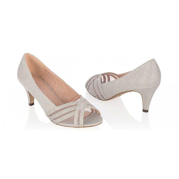Zapatos de Fiesta Peep Toe modelo Isla Silver de G. Westerleigh ➡️ #LosZapatosdetuBoda #Novia