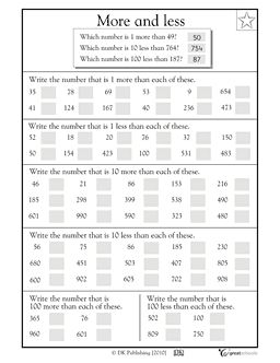 More or less? #2 | 2nd grade math worksheets, 2nd grade ...