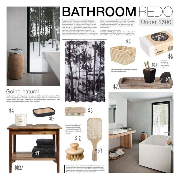 Bathroom Redo Going Natural By Little Bumblebee Liked On Polyvore Featuring