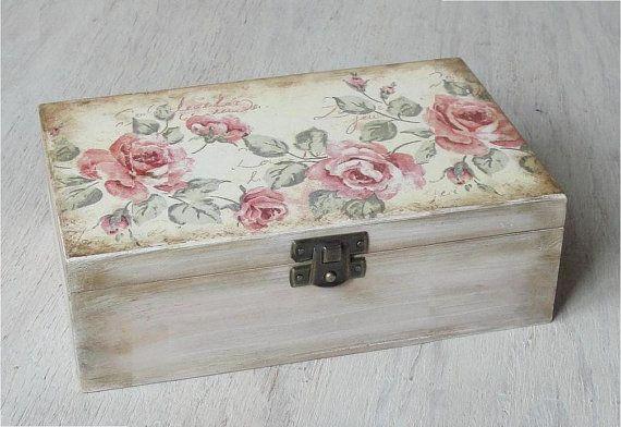 Wooden box. Jewerly box.. Wooden storage. by DecoupageMargaret, zł60.00