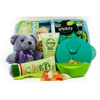 This exclusive hamper contains: Baby Boo Organic Zingy Citrus Splashy Body Wash, Baby Boo Organic Sweet Splashy Body Wash, Huggies Baby Wipes Teddy Bear Plush and much more.