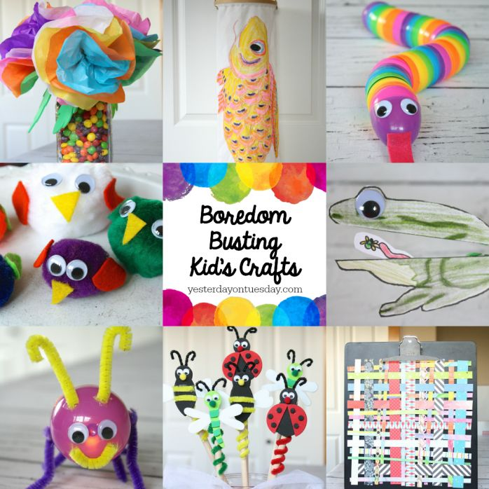 Boredom Busting Kids Crafts Great Creative Ideas To Keep Kids Busy