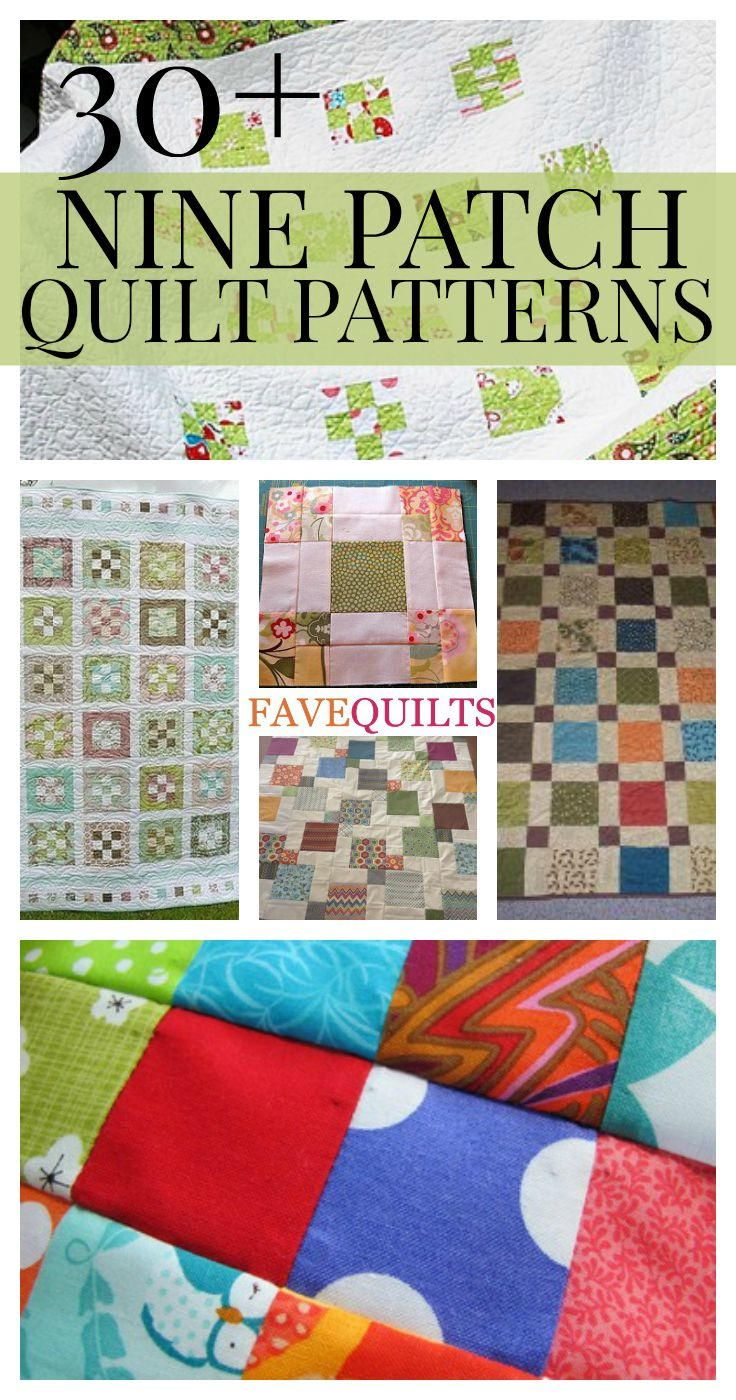 Free Nine Patch Quilt Patterns + Other Nine Patch Designs | FaveQuilts.com