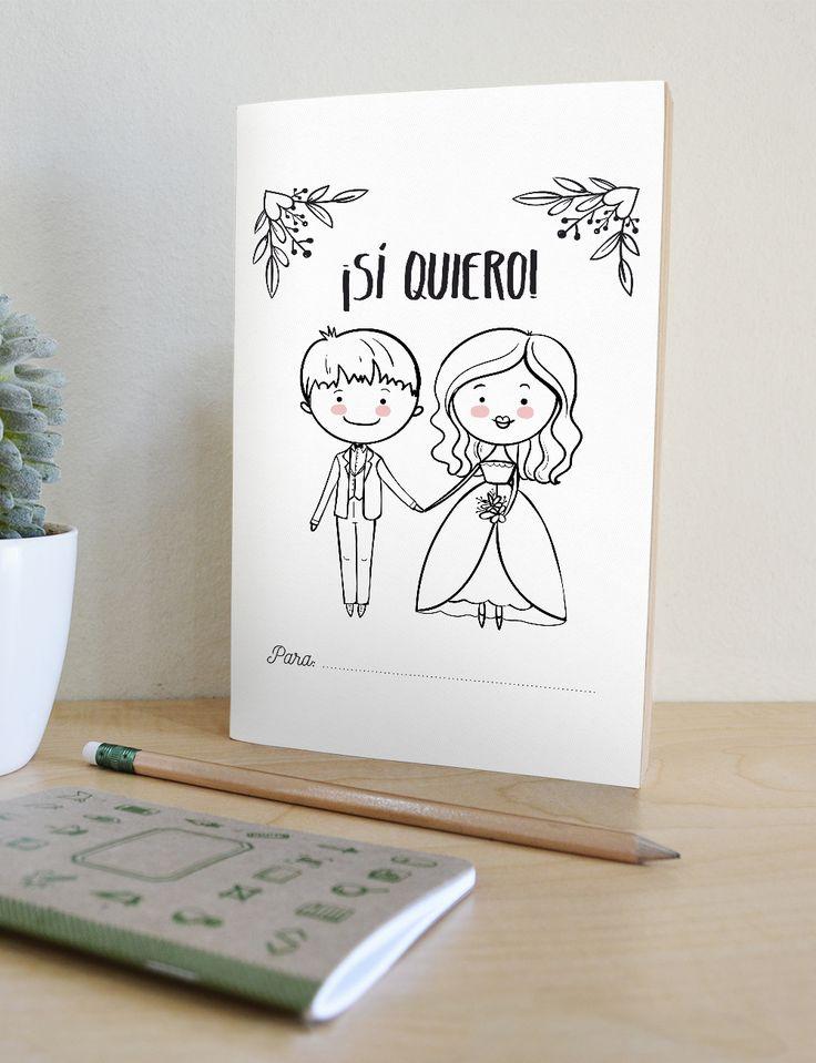 Imagen del libro de actividades descargables bodas para niños