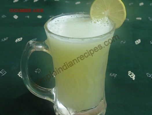 Cucumber Juice - Velarikkai Juice - Kakdi Juice - A very cool and refreshing summer drink made with cucumbers. http://simpleindianrecipes.com/Home/CucumberJuice.aspx