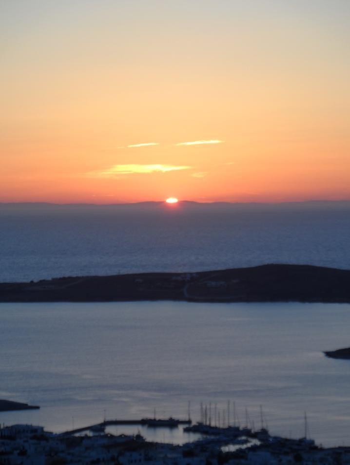 sunset in Paros