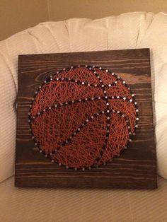 CUSTOM Sports Basketball String Art by KiwiStrings on Etsy