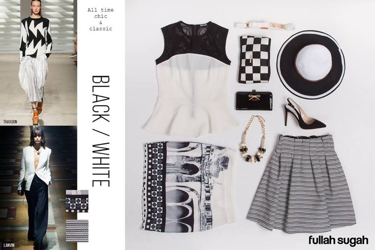 ΒLACK AND WHITE Μια τάση που εκφράζει την απόλυτη κομψότητα, μέσα από τους λιτούς συνδυασμούς του μαύρου με το λευκό.