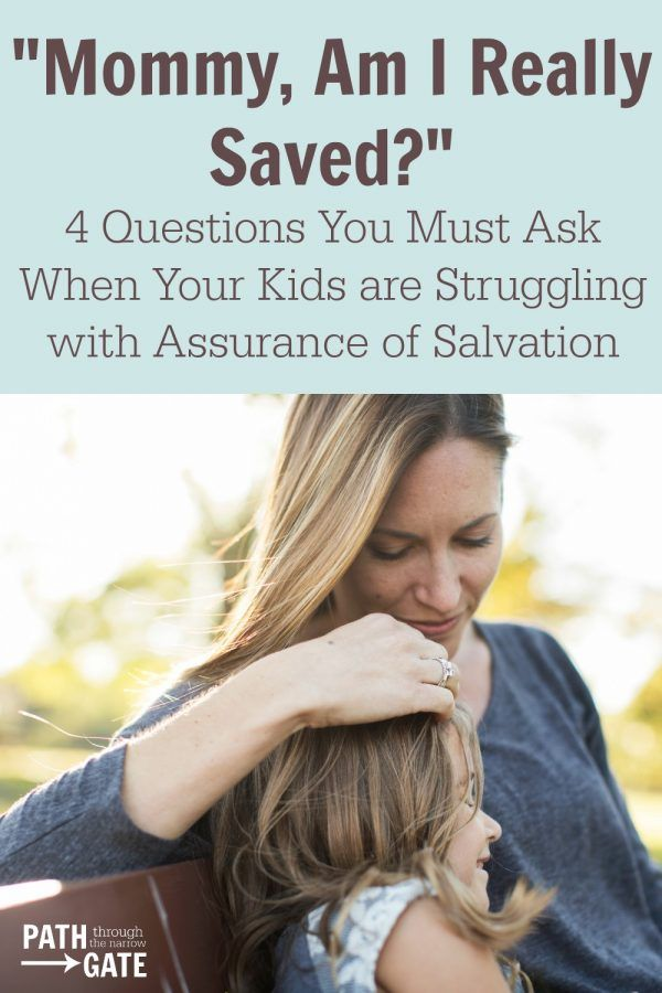 """Have your children ever asked you if they are really, truly saved? My children have asked me! How can we answer them? Should we assure them that they are saved because they prayed the """"sinner's prayer"""" when they were younger? What if that prayer didn't """"take""""? If we are honest, many of us adults struggle […]"""