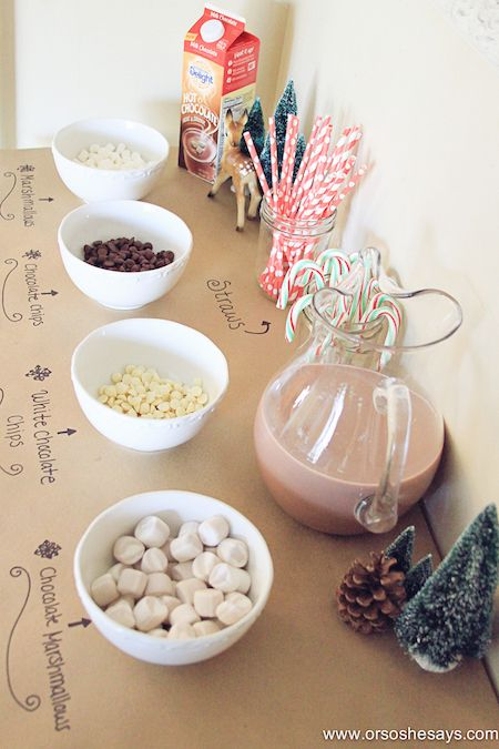 Fun way to kick off winter with the kids!! International Delight Hot Chocolate Bar- Or So She Says #ShareDelight #Ad @indelight