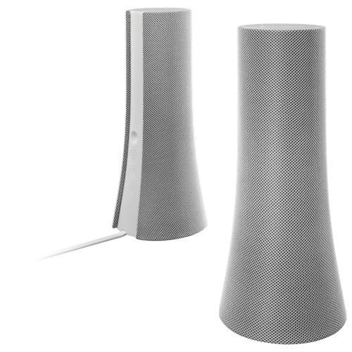 To create a zen feel for your study zone. White Logitech Z600 Bluetooth Speakers.  #SetMeUpBBY  I want these for my work area.
