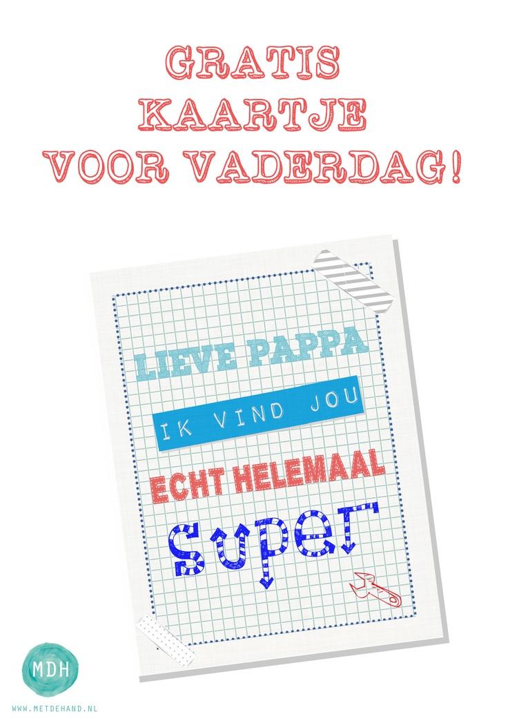 ~Leuk vaderdag-kaartje om uit te printen~
