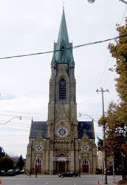 St. Mary's Church is a Roman Catholic church located at 130 Bathurst Street at Portugal Square in the Niagara neighbourhood of Toronto's west end. The parish was established by Irish immigrants in 1852.