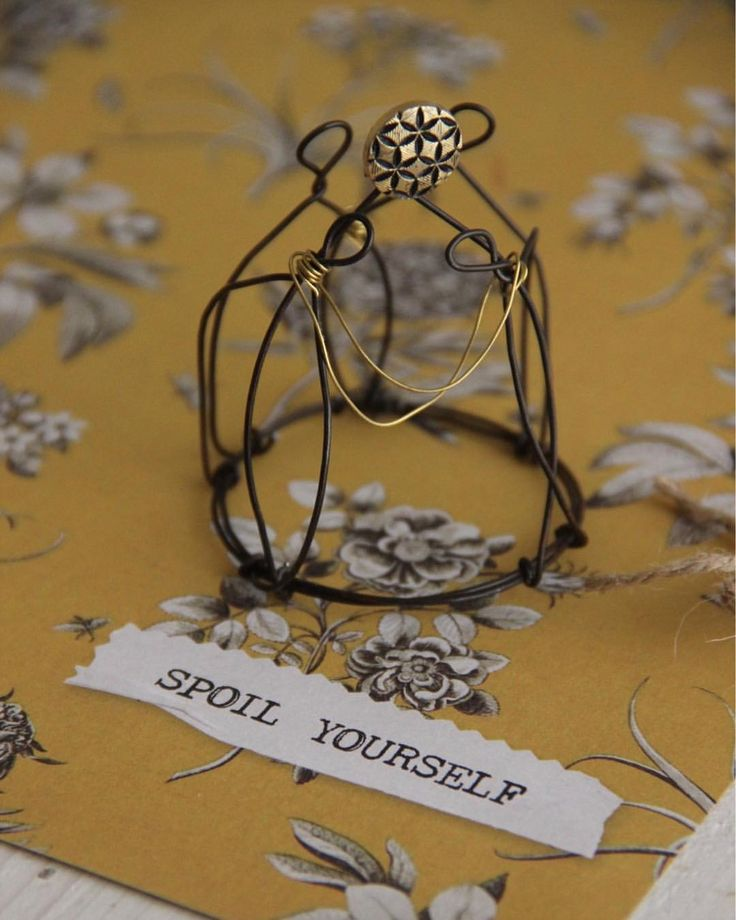 Spoil yourself  Handmade wire crown One of a kind