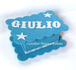 kit feltro scatola bauletto cofanetto scatolina bomboniera fai da te idea regalo pannolenci bimbo battesimo comunione