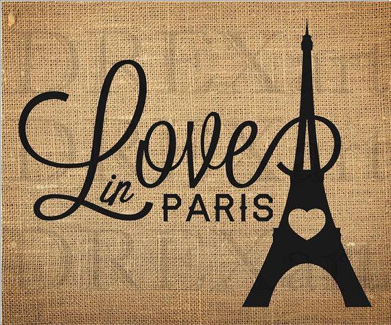 PARIS - Tour Eiffel - coeur - pochoir FRANÇAIS pour les coussins de la toile de jute / panneaux de bois - 10 x 12-7 mil Mylar