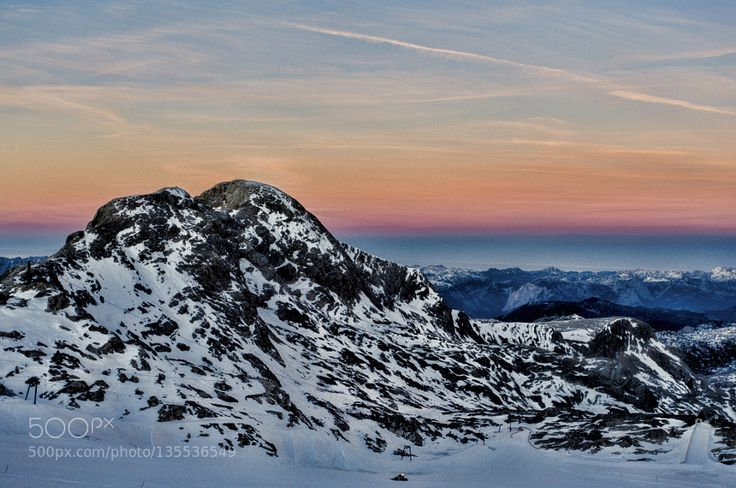 Sundown on Dachstein by swm1956. Please Like http://fb.me/go4photos and Follow @go4fotos Thank You. :-)
