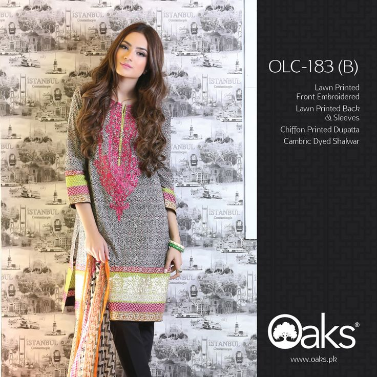 Lawn Suit with Chiffon Dupatta.  3 Piece: OLC-183 (B) | RS. 3,590 |   2 Piece: OLC2P-1202 (B) | RS. 3,190 |