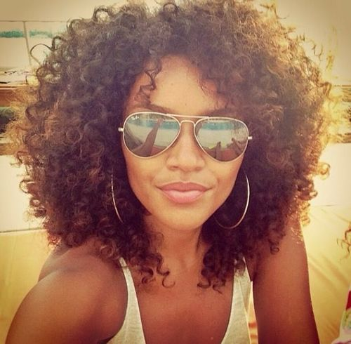 Summer curls and shades. or just weave it in......HOT!