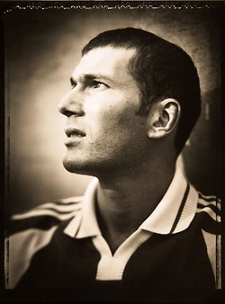 Portraits by Walter Iooss. Pele (1995), del Piero (1999), #Zidane (1999), Rooney (2006), Beckham (1999), van Nistelrooy (2006), and Ronaldo (2006).